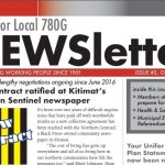 Local 780G Newsletter, October 2018 issue.