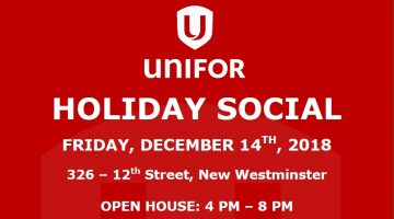2018 Unifor Holiday Social – December 14, 2018