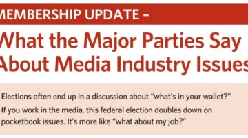 Election 2019 Media Issues.  What the major parties are saying.